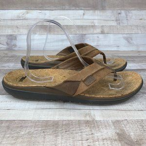 Teva Men's Brown Leather Flip Flop Sandals Size 12